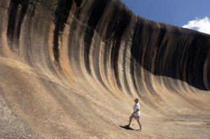 Hydon, Australia - August 4, 2013: Wave Rock is a natural rock formation located east of the small town of Hyden in ...