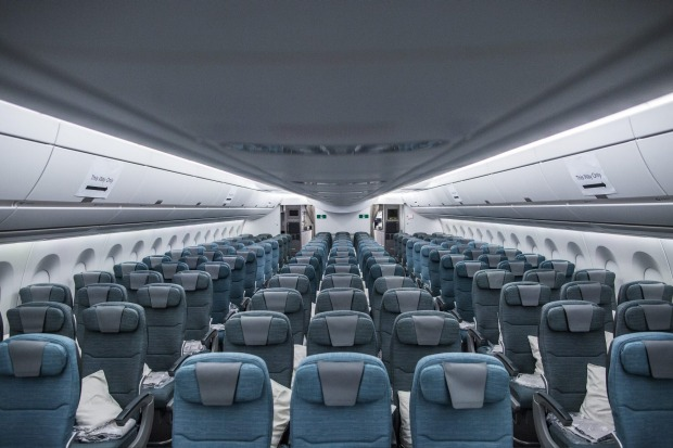 Cathay Pacific economy-class seats on its A350-900 aircraft.