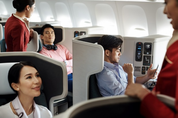 Cathay Pacific's business class.