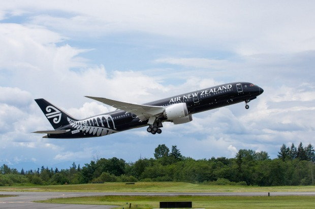 Air New Zealand's Boeing 787-9.