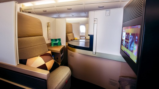 Etihad's business class on the A380 offers a genuine feel of space and seclusion.