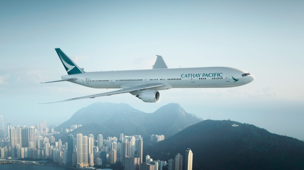 Cathay Pacific's B777-300ER.