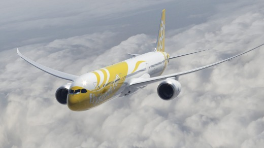 Scoot 787 Dreamliner.