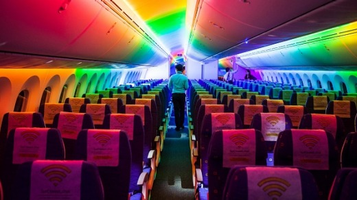 Economy class on 787 Dreamliner aircraft operated by Scoot.