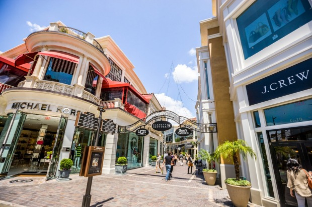 The Grove Shopping Mall in Los Angeles.