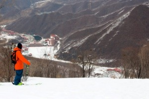 Sam Smoothy at Masikryong Ski Resort in North Korea.