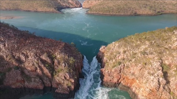 The Horizontal Falls are one of the premier tourism destinations of the Kimberley.