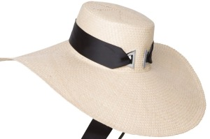 Arcadia's floppy straw boater is cool and durable.
