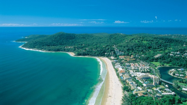 View of Noosa Heads and Noosa National Park.