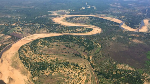 Flying from South Luangwa to Kasanka.