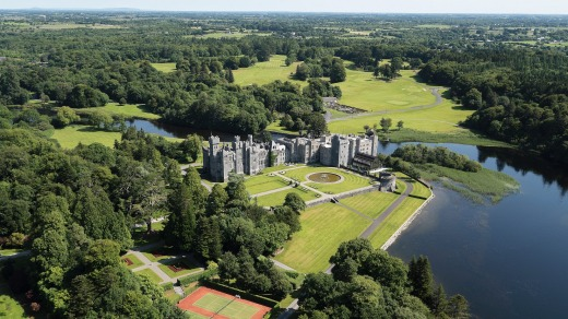Ashford Castle and its stunning surrounds.