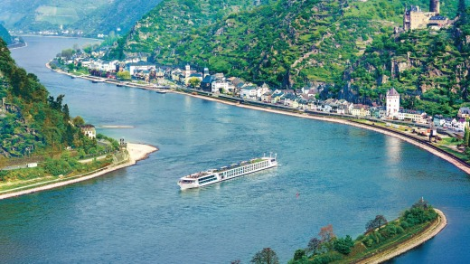 Evergreen Tours' Emerald Star has panoramic views of the Rhine Gorges - whereas by car you'd only get half.