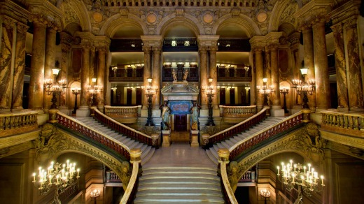 The Grand Stairway in the Palais Garnier.