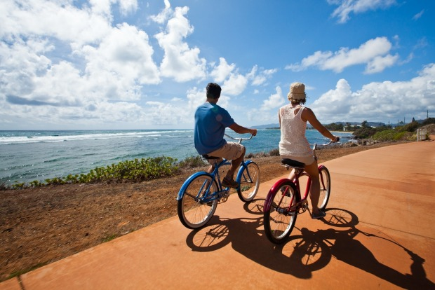 Cycling is a great way to explore the beautiful surrounds of Kauai.