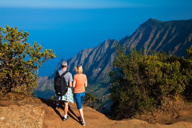 Stunning views while hiking the Napali coast.