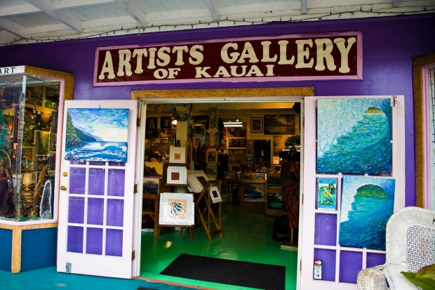 Soak in the local culture at the Kauai Artists Gallery.