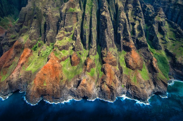 The stunning Napali Coast is only accessible on foot, air or boat.