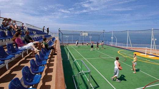 So much to do: The basketball court on the  Norwegian Jewel.