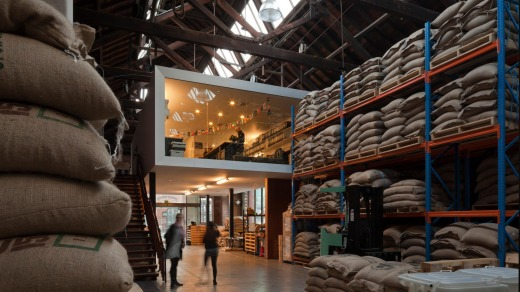 Coffee roastery and headquarters, Shed 13, Mojo Coffee.
