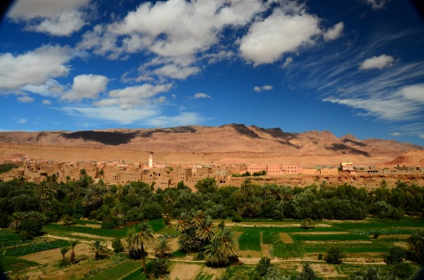 The Dades Valley was so spectacular, an oasis of lush green between pink mountains and beneath deep blue skies, that I ...