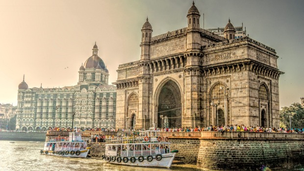 The Gateway of India, by the and Taj Mahal Palace Hotel.