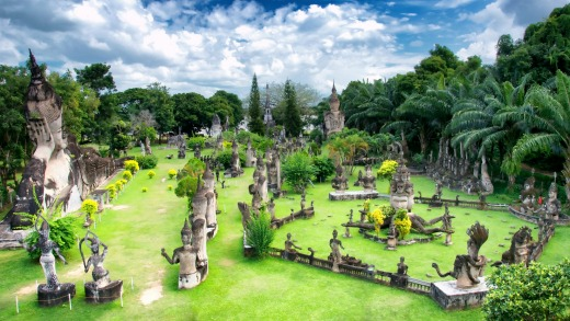 Buddha Park is 25kms southeast of Vientiane.