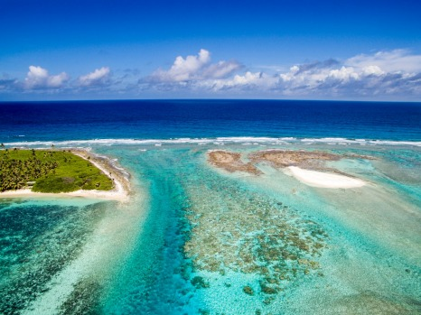 Cossies Beach, Cocos (Keeling) Islands.
