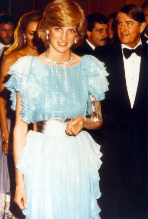 Princess Diana pictured at a function at the Wentworth Hotel in Sydney on March 28, 1983. Also pictured is NSW Premier ...