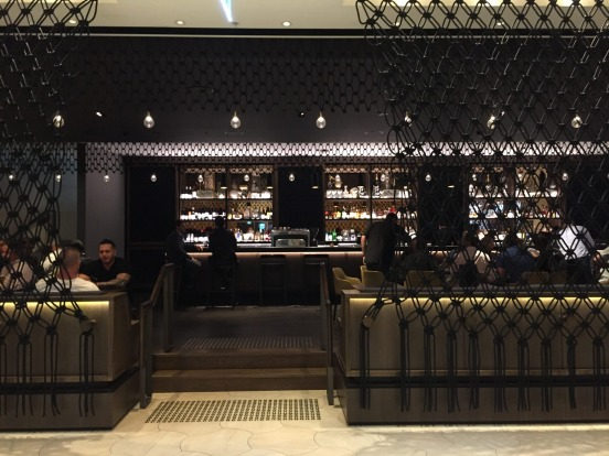 The lobby bar at Hyatt Regency Sydney.