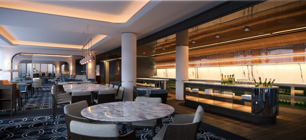 The executive lounge at Hyatt Regency Sydney.