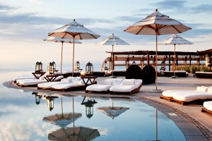Drift into deep relaxation by the pool at Las Ventanas al Paraiso.