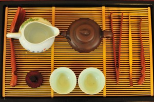 All set for a tea ceremony.