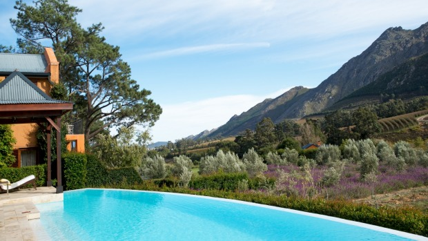 The view from La Residence, Franschhoek, South Africa.