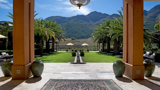 La Residence, a luxurious nook nestled amid grape vines and olive groves in the South African town of Franschhoek, has ...