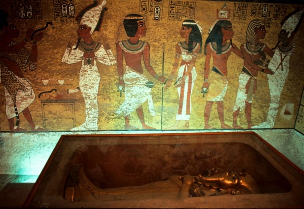 Tutankhamun's tomb in Valley of the Kings, Egypt.