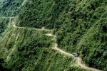 The Yungas Road, otherwise known as Death Road, in Bolivia.