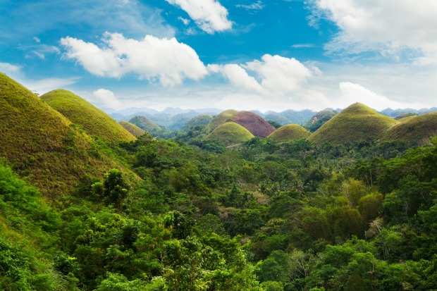 The Chocolate Hills in Bohol Island, Philippines.