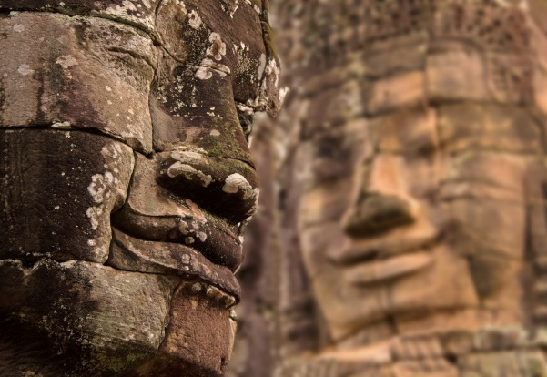 A fantastic day at the Angkor War Temples in Siem Reap , Cambodia. Our favourite temple was the faces of Bayon . The ...