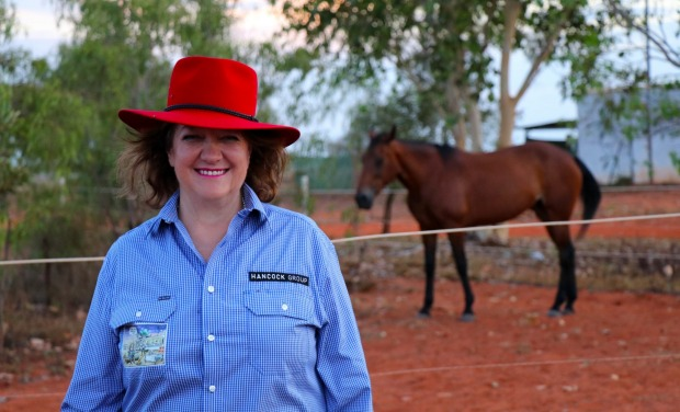 Many of Hancock Chairman Gina Rinehart's best memories are of working in remote areas.