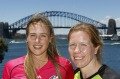 Ellyse Perry of the Sydney Sixers and Alex Blackwell of the Sydney Thunder.