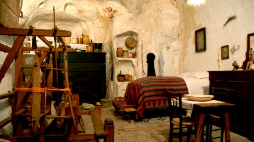 A cave dwelling in Matera.