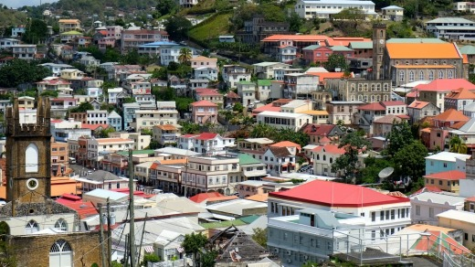 Colourful St Croix in US Virgin Islands.