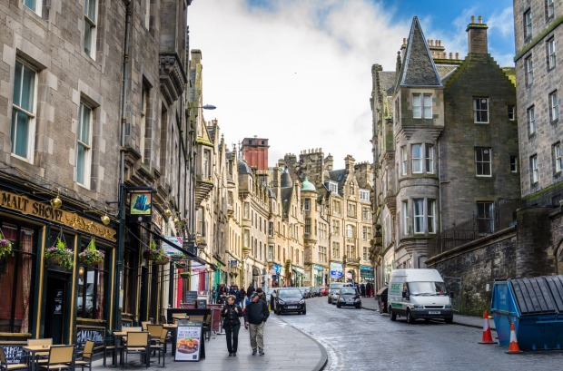 Cockburn Street, Edinburgh city centre, Scotland.