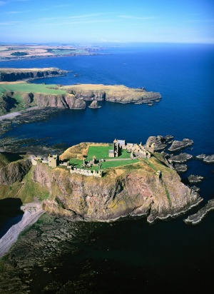 Dunnottar Castle in the Grampian region of Scotland.