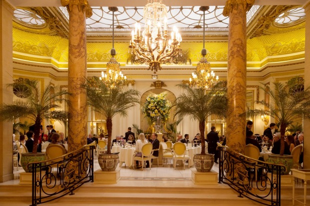 Afternoon tea in Palm Court, the Ritz Hotel, London.