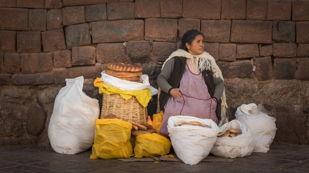 Bread made from centuries old traditions and sold on the streets of Cusco.