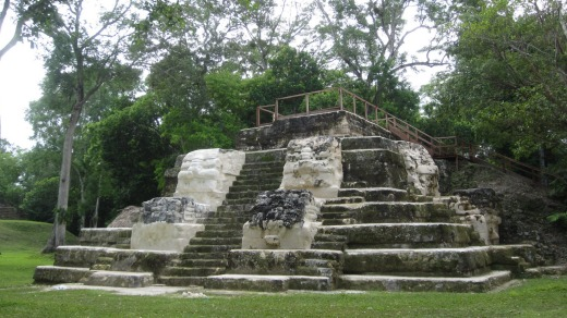 Part of the Maya observatory at Uaxactun.