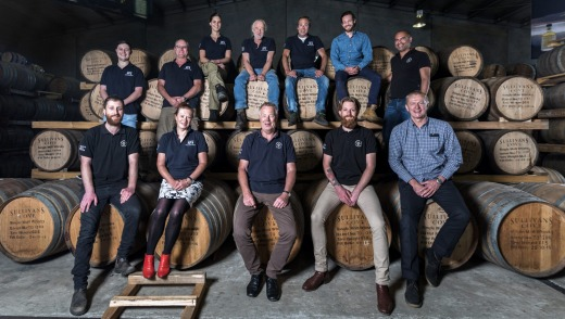 Team Sullivan's Cove will still be led by distiller Patrick Maguire (front, centre).