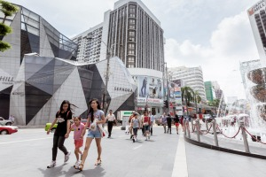 Bukit Bintang, the shopping and entertainment district of Kuala Lumpur, Malaysia.