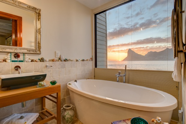 There are spectacular views, even from the bath.